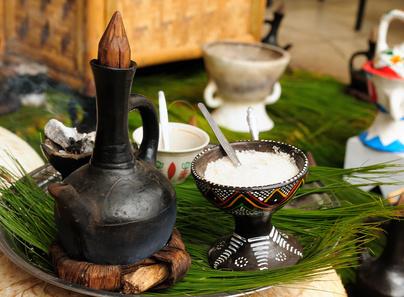 Traditional ethiopian coffee pot